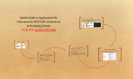 Quick Guide to Application for Clearance for Completion of Work on Sanitary & Pumping System