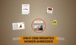 KIN-F-1500 MOUNTED MOWER-SHREDDER
