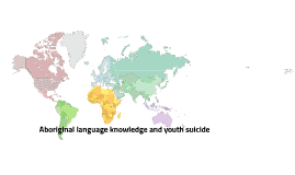 Aboriginal language knowledge and youth suicide