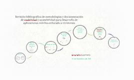 Revisión bibliográfica de metodologías y documentación de us