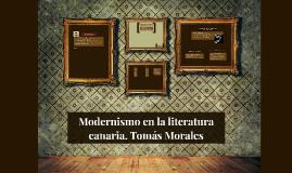 Modernismo en la literatura canaria. Tomás Morales