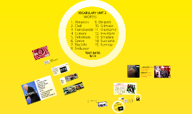 Copy of Vocabulary Unit 2