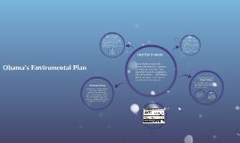 Obama's Enviromental Plan