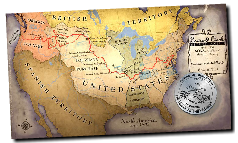 LEWIS AND CLARK'S EXPEDITION MAP