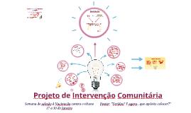 Projeto de Intervenção Comunitária