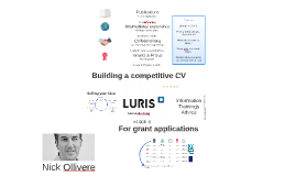 Strengthening your CV for future grant applications