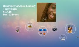 Biography of Anya Lindsey