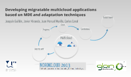 Developing migratable multicloud applications based on MDE a