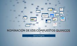 NOMINACIÓN DE LOS COMPUESTOS QUIMICOS