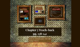 Chapter 5 Teach-back