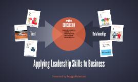 Applying Leadership Skills to Business