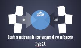 Diseño de un sistema de incentivos para el área de Tapicería