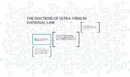 Copy of THE DOCTRINE OF ULTRA VIRES IN NATIONAL LAW