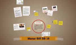 Manar Bill SB 16