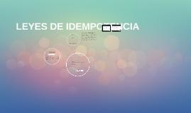 LEYES DE IDEMPOTENCIA