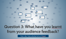 Question 3: What have you learnt from your audience feedback