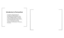 INTRODUCTION TO PERMACULTURE 3