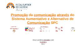 Promoção da comunicação através do sistema aumentativo e alt