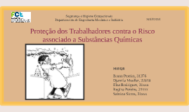 Proteção dos Trabalhadores contra o Risco associado a Substâ