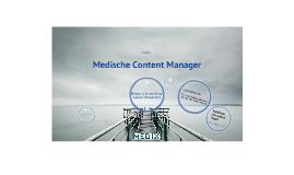 Presentatie Medische Content Manager