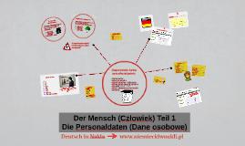 Der Mensch (Człowiek) - Teil 1: Personaldaten (Dane osobowe)