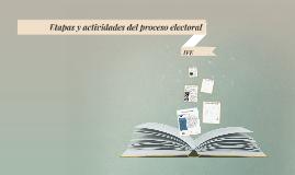 Etapas y actividades del proceso electoral