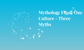 Mythological Research Project
