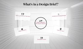 What's in a Design Brief?