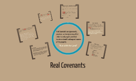 Covenants and Equitable Servitudes