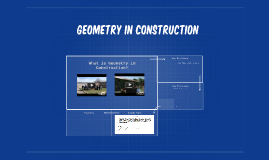 Geometry in construction