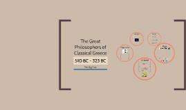 The Great philosophers of ancient Greece
