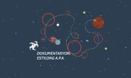 DOKUMENTASYON:ESTILONG A.P.A.