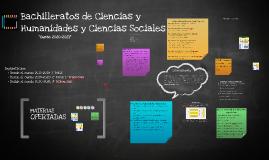 BACHILLERATO HUMANIDADES Y CIENCIAS SOCIALES