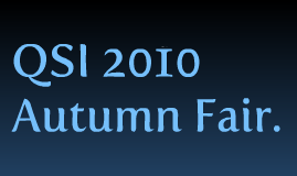 2010 QSI autumn fair