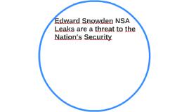 Edward Snowden NSA Leaks