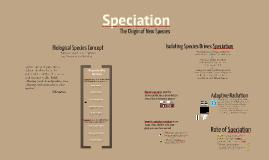 BI 1: Speciation