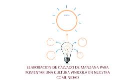 ELABORACION DE CALVADO DE MANZANA PARA FOMENTAR UNA CULTURA