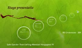 stage presentatie