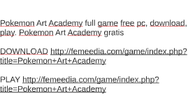 Pokemon Art Academy full game free pc, download, play. Pokem