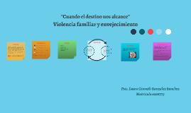 Violencia familiar y envejecimiento