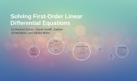 Copy of Solving First-Order Linear Differential Equations