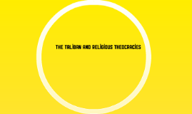 The Taliban and religious theocracies