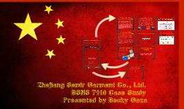 Copy of Zhejiang Semir Garment Co Case - Rgoza BSNS7110