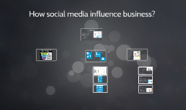 Influence of scocial media on business