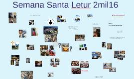Semana Santa Letur 2mil16