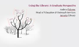 Graduate Students: Knowledge Consumers to Creators