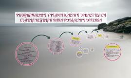 Copy of PROGRAMACION Y PLANIFICACION DIDACTICA EN EL AULA REGULAR PA