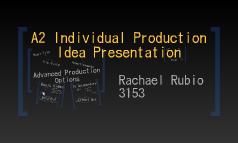 A2 Individual Production Idea Presentation