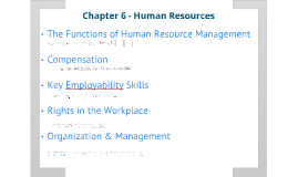 Chapter 6 - Human Resources