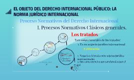 EL OBJETO DEL DERECHO INTERNACIONAL PÚBLICO: LA NORMA JURÍDI